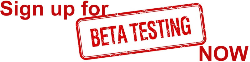 Sign up for beta testing now