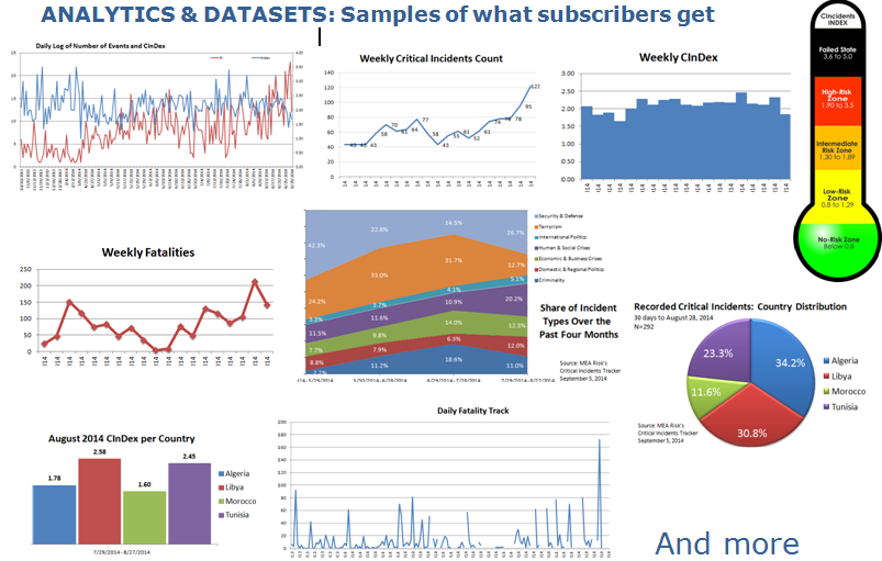 Sample analytics and outputs