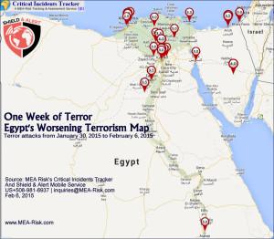 Egypt terror map: Jan 30-Feb 6, 2015