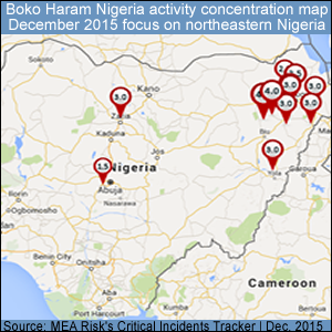Boko Haram Dec 2015 Activity in Nigeria